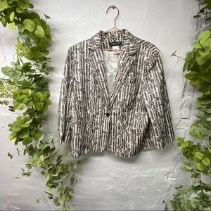 Jones New York embroidered blazer 16W